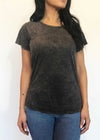 plume and thread-tops-mineral black-billie tee-front