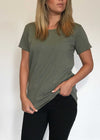 plume and thread-tops-sage-billie tee-front
