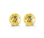 7mm Diamond Cut Yellow Gold Ball Studs