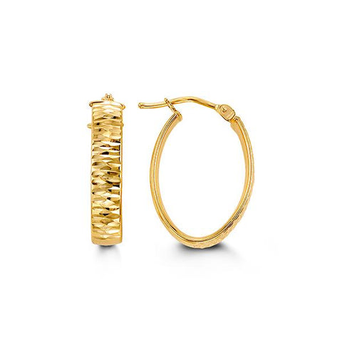 10K Yellow Gold Hoops 1010B