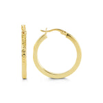 10K Yellow Gold Hoops