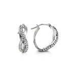 10K White Gold Hoops with CZ 1029A