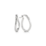 10K White Gold Hoops 1030D