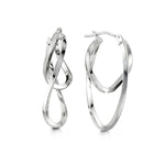 10K White Gold Hoops 1036