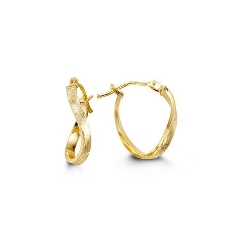 10K Yellow Gold Hoops 1044A