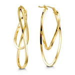 10K Yellow Gold Hoops 1046