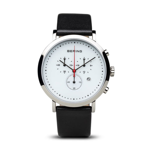 BERING Time Men's White Chronograph Watch