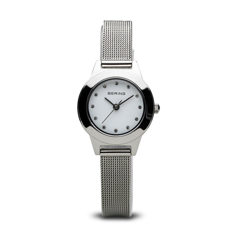 BERING Time Women's Classic Collection Watch with Stainless-Steel Strap and Scratch Resistant Sapphire Crystal