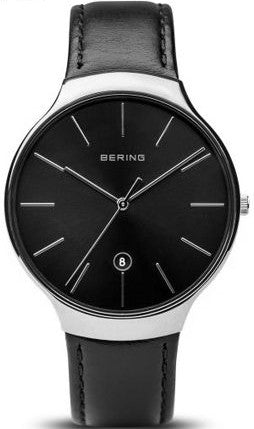 Bering Mens Leather Watch 13338-402