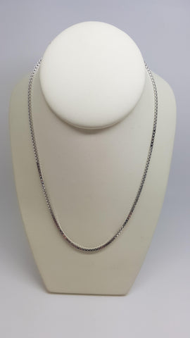 "18"" Box  Link Sterling Silver Chain"