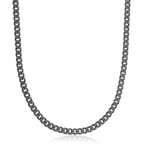 Steelx Black 6mm Curb Chain