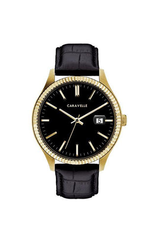 Caravelle Mens Leather Watch