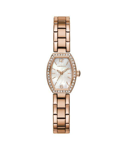 Caravelle Ladies Rose Gold Watch