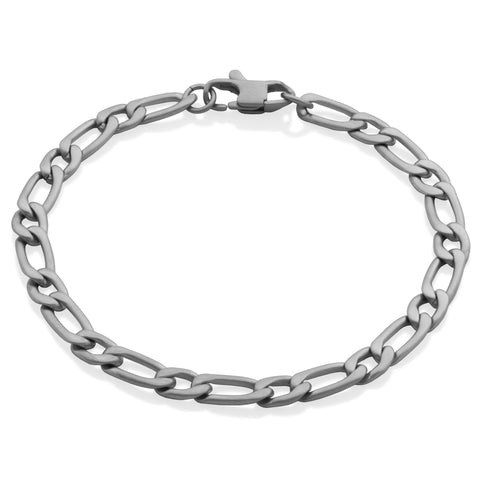 Steelx Mens 6mm Figaro Bracelet