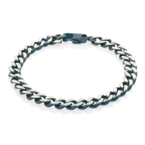 Steelx Fancy Chain Blue Bracelet