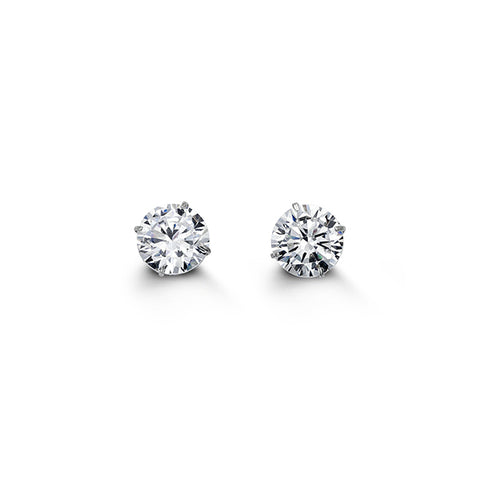 Bella CZ Studs 6mm White