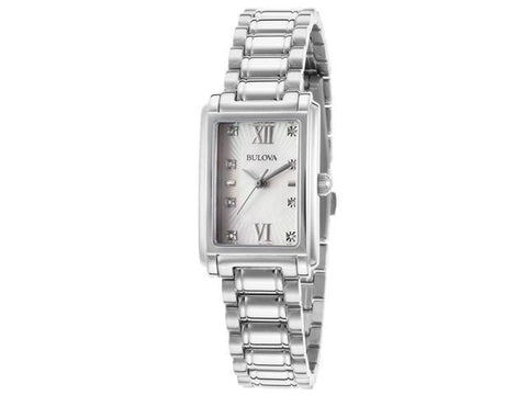 Bulova Womens Dress Mother-of-Pearl Dial Watch