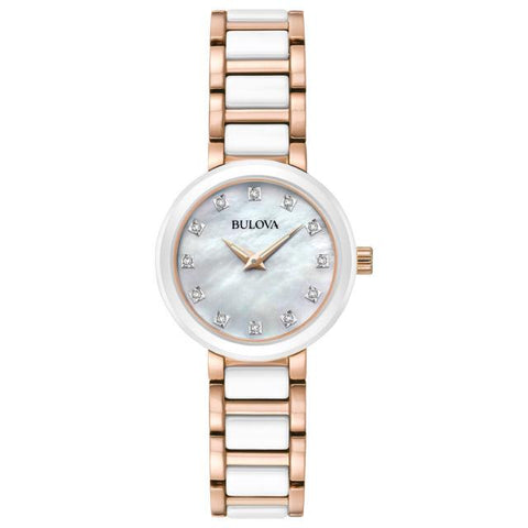 Bulova Women's Analog-Quartz Watch with Stainless-Steel Strap, Two Tone