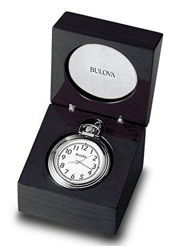Bulova ASHTON II Pocket Watch with Tabletop Presentation Box