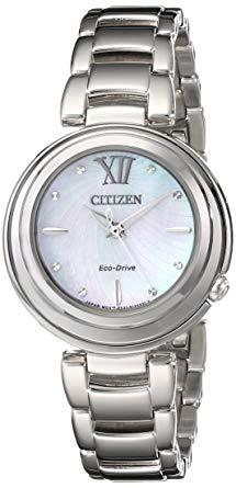 Citizen Women's Sunrise Analog Display Japanese Quartz Silver Watch