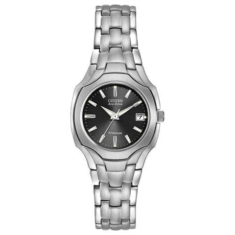 Citizen Women's Eco-Drive Titanium Dark Grey Dial Watch