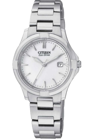 Citizen Women's Silhouette Sport Analog Display Japanese Quartz Silver Watch