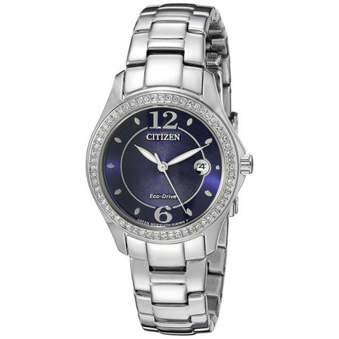 Citizen Women's Silhouette Crystal Wrist Watches, Blue Dial