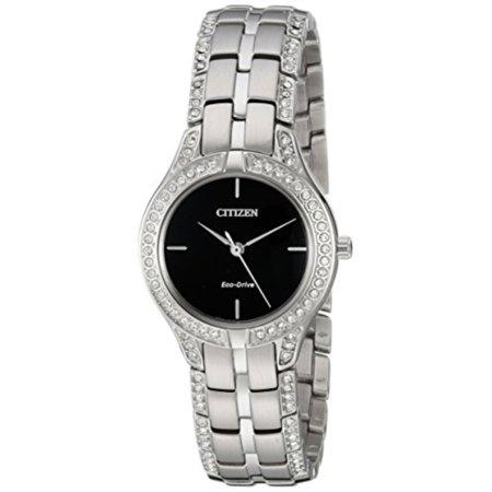 Citizen Watches Women's Silhouette Crystal Silver Tone Stainless Steel Watch