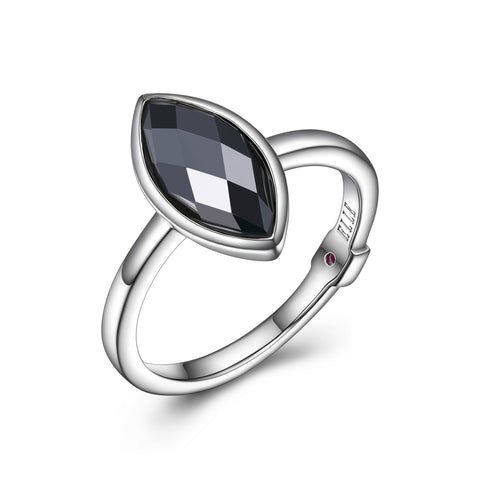 "Elle ""Blink"" Hematite Ring"