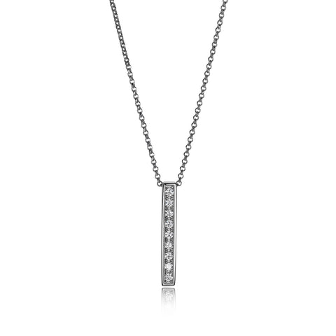 "Elle ""Horizon"" Vertical Bar Necklace"