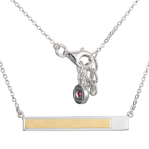 "Elle ""Mondrian"" Horizontal Bar Necklace"