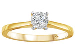 Fire and Ice Canadian Diamond Engagement Ring