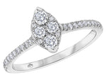 Fire and Ice Marquise Style Diamond Ring
