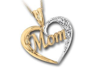 """Mom"" 10K Gold Necklace"
