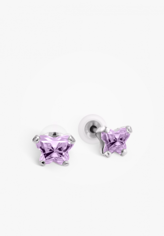 B-Fly Silver Stud Earrings