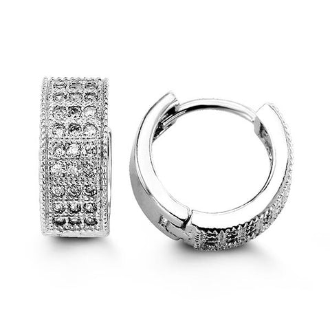 Sterling Silver Huggies with CZ 5109