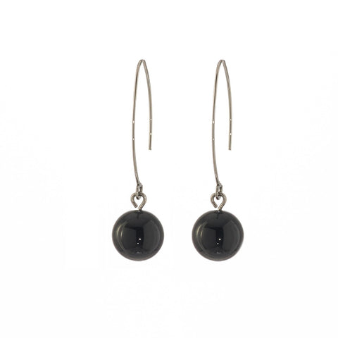 Steelx Black Onyx Bead Earrings