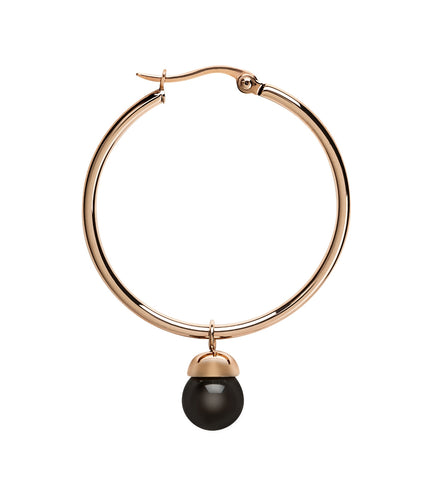 Steelx Rose 35mm Hoops with Black Ball