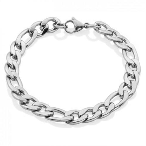 Steelx 9mm Figaro Chain Bracelet