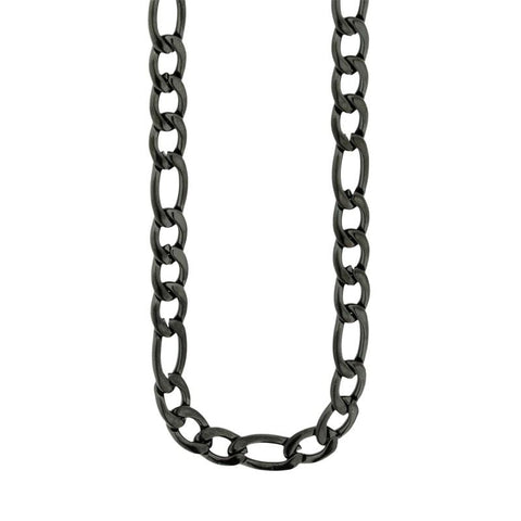 Steelx Black Figaro Chain