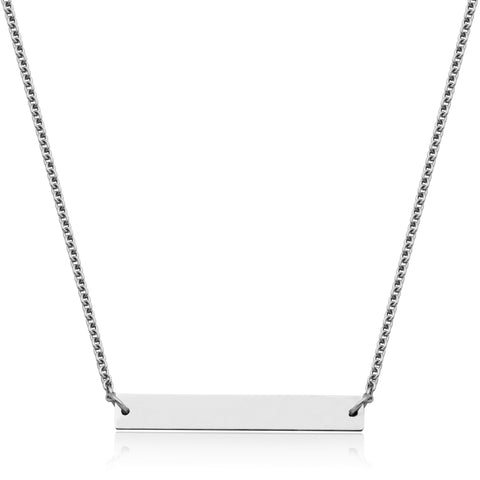 Steelx Engravable Bar Necklace