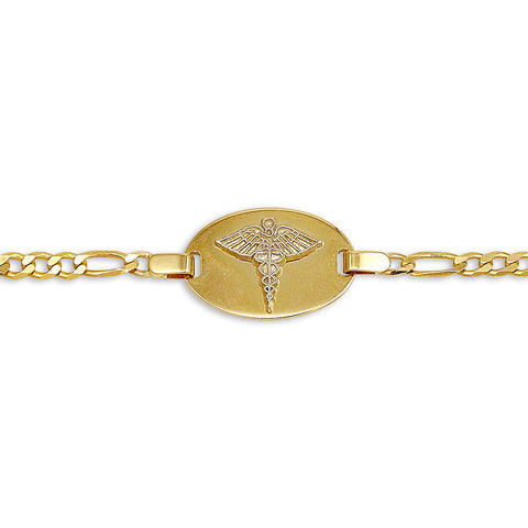10K Yellow Gold Medic Bracelet - 2402