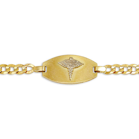 10K Yellow Gold Medic Bracelet - 2404