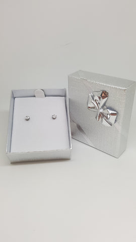 2mm Studs with Genuine Diamond