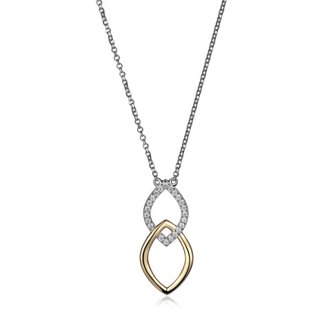 "Elle ""Wave"" Marquise Shaped Necklace"