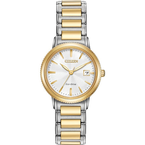 CITIZEN WOMEN'S STAINLESS STEEL ECO-DRIVE WATCH