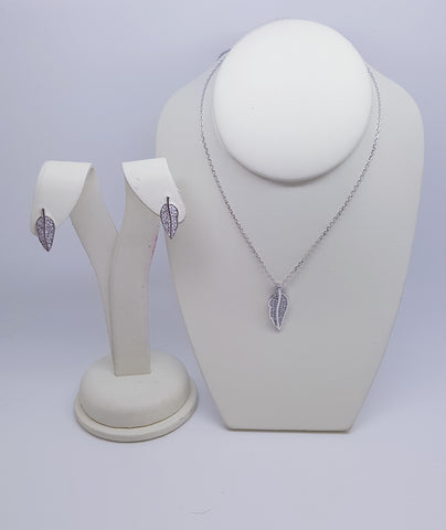 Sterling Silver Earring and Pendant Set