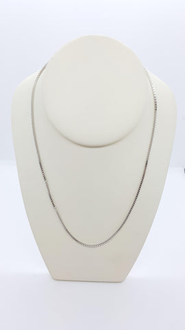 "26"" Box Sterling Silver Chain"