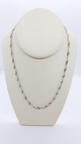 "28"" Singapore Sterling Silver Chain"