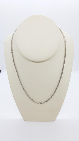 "26"" Glitter Rope Sterling  Silver Chain"
